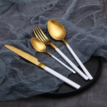 Gold Plated Flatware Stainless Steel Cutlery
