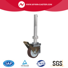 Threaded Stem Scaffolding Caster with Red PU