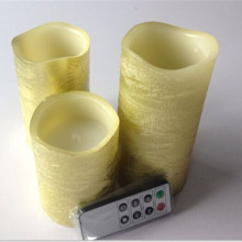 Best Quality for Pillar Shape Battery Candle luxury remoted control gold pillar led candle supply to Turkey Suppliers