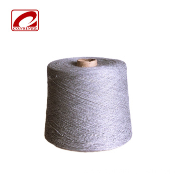 Dyed pattern cotton wool blend knitting yarn