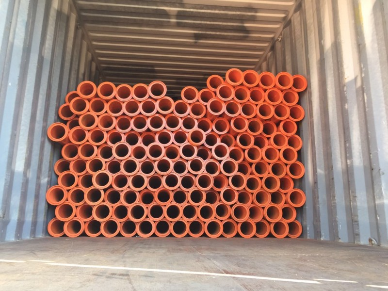 concrete pump pipe load container