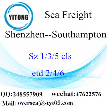 Shenzhen Port LCL Consolidation To Southampton