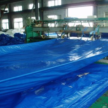 Blue color PE tarpaulin