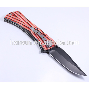 420SS Folding Knife with Plastic Handle Pocket Knife
