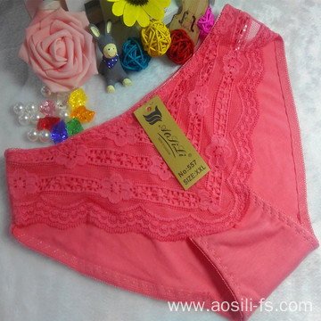 OEM wholesale new style underwear watermelon red sexy comfortable lace cotton fancy panty 557