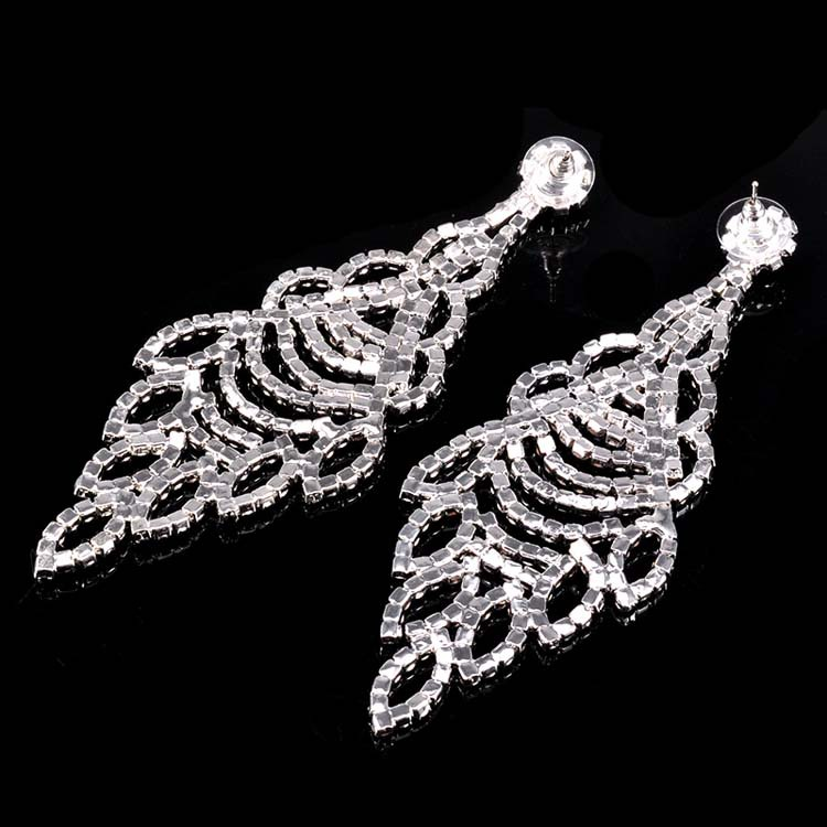 Fashion Clear Color Women Crystal Pendant Earrings