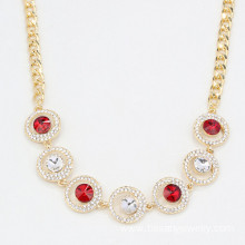 China for JingLing Fashionable Collar Necklaces Women Jewelry Rhinestone And Alloy Materials Pretty Lady Necklaces Personalized Design Wholesale Crystal Necklace For Women export to Malaysia Factory
