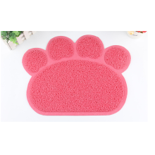 Pet Cat Litter Mat com estilo de pata
