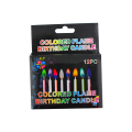 Color Flamed Birthday Cake Decor Magic Light Candles