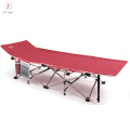 High quality hot sale 26 tubes double layers outdoor camping folding bed/Oxford material portable bed