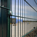 High quality PVC coated green color double wire mesh fence