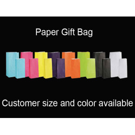 Colors White Kraft Paper Gift Bag