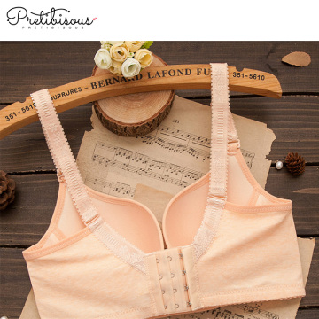 Front opening padded nursing bra for women