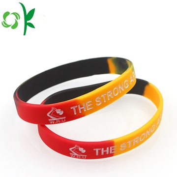 Fashion Gradients Printed Logo Epoxy Silicone Bracelet