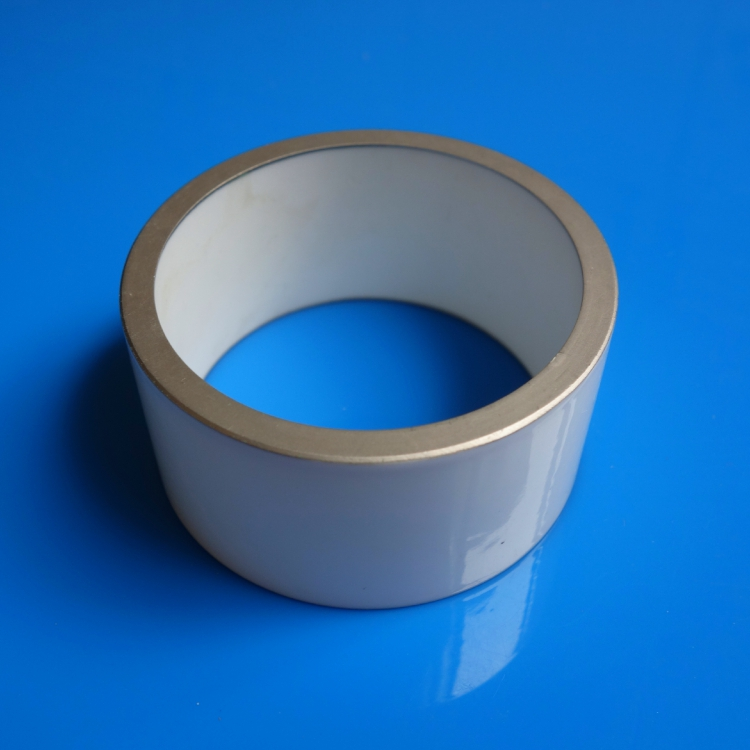 Glazed alumina metallized ceramic pipe for vacuum breaker