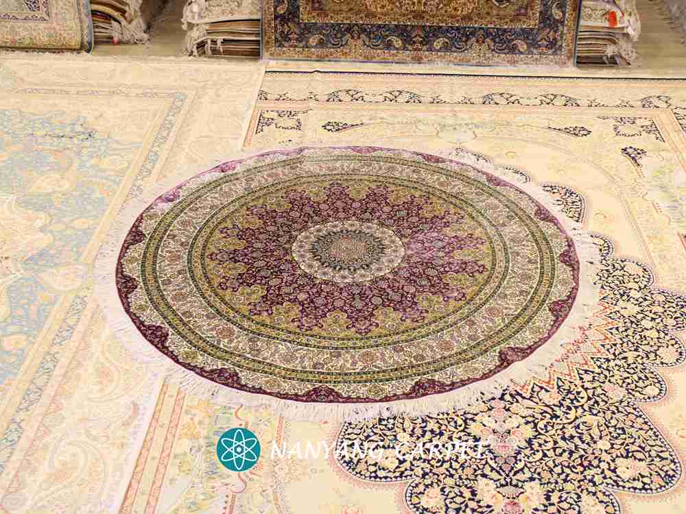 hand knotted rug purple
