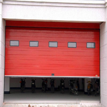 High speed roll up sectional industry door