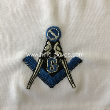 Cotton Gloves Masonic Military Uniform With Embroider