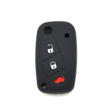 Silicone car key cover Fiat 3 buttons
