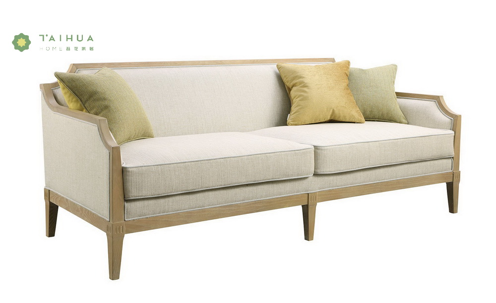 Cloth Art Sofa Solid Wood