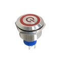 Round Momentary LED Metal Push Button Switch