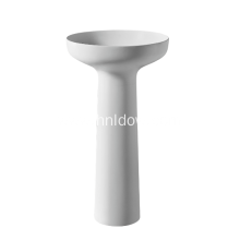 Stone resin pedestal washbasin for bathroom