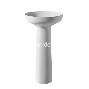 Manufacturer for Small Column Washbasin Stone resin pedestal washbasin for bathroom export to Georgia Exporter