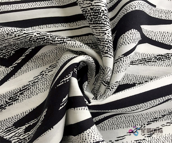 Aesthetic Abstract Pattern 100% Viscose Rayon Fabric (5)