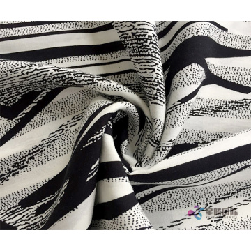 Aesthetic Abstract Pattern 100% Viscose Rayon Fabric