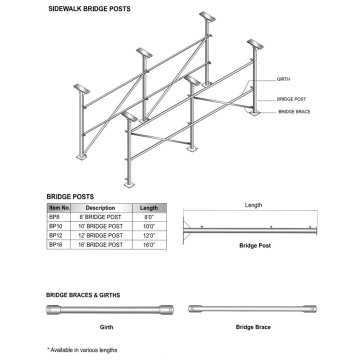 Bridge Leg for Sidewalk Shed Projects