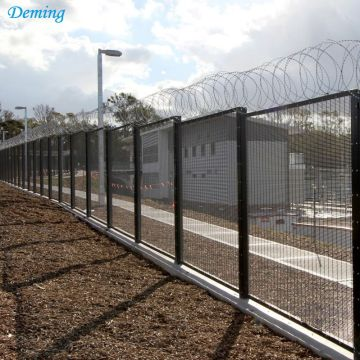 Powder Coated Anti climb 358 Iron Fence