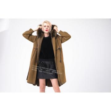 Spain Merino Shearling Coat With Motif
