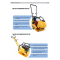 Mini Portable one-way 66kg plate Compactor
