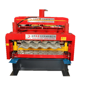 Glazed double layers roof sheet roll forming machine