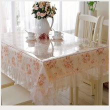 Venta al por mayor cubierta de tabla claro suave Pvc Table Cloth