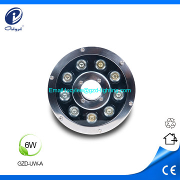 6W low power IP68 led fountain underwater light