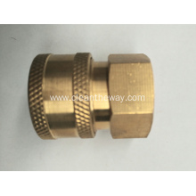 "Pressure Washer 1/4"" Female NPT-F Quick Connect Brass Coupler 5000 PSI"
