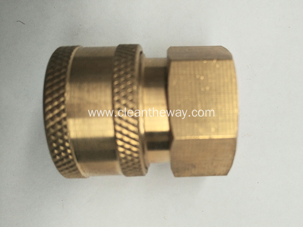 "Pressure Washer 3/8"" Female NPT-F Quick Connect Brass Coupler 5000 PSI"
