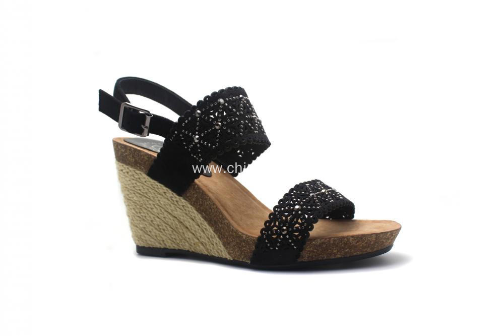 New Design Wedge Sandals with Buckle Strap