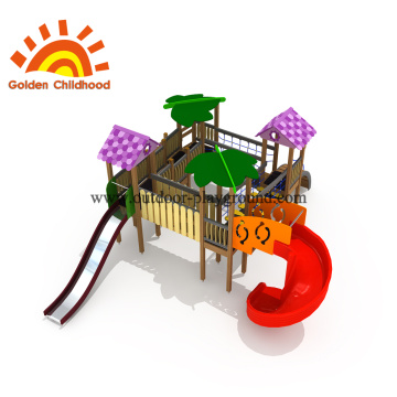 Tube Slide Playhouse Outdoor Playground Equipment For Sale