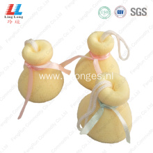 Sightly mesh fizzy facial cleansing sponge