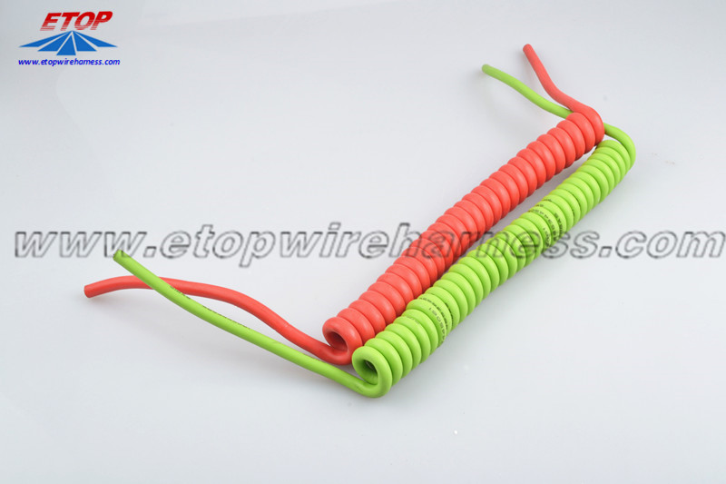 Coiled Cable Harness