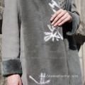 Winter Spain Merino Shearling Overcoat For Lady