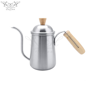 professional factory provide for Stainless Steel Coffee Drip Pot Hand Drip Coffee Kettle Wood Handle supply to Poland Supplier