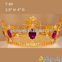 Custom Full Round Beauty Queen Crowns For Sale