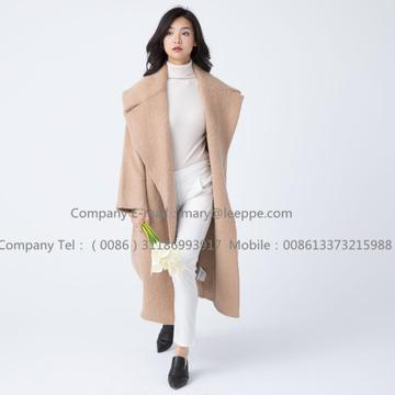 Long Cashmere Coat With Mohair