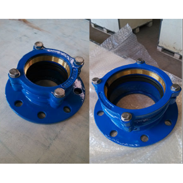 Ductile Iron Cast Pipe Fittings Restraint Flange Adapter