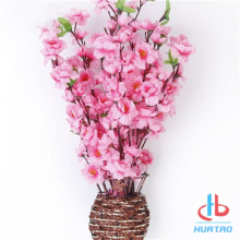 Artificial Peach Blossom Tree Potted