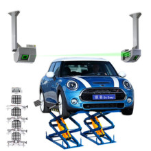 Mini-scissor Lift Wheel Alignment System