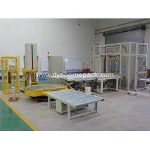 Fully automatic online pallet stretch film wrapping machine
